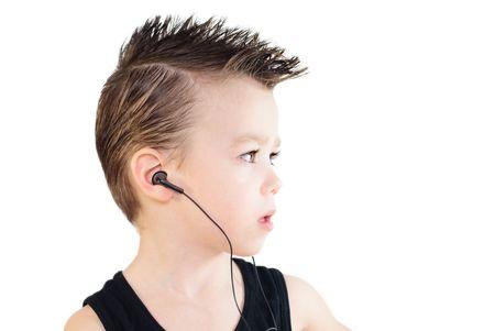 Boy with headphones photo