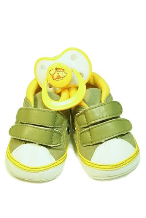 baby's bootee: Baby�s bootee and pacifier