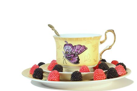 Tea with fruit marmalade Stock Photo - 6719323