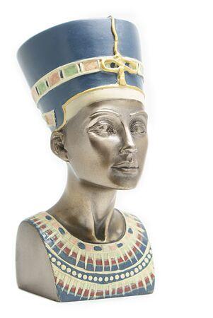 queen nefertiti: Modern touristic souvenir, copy of Queen Nefertiti's head Stock Photo