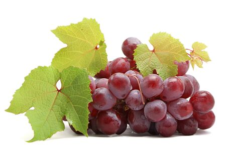 Bunch of grapes isolated on white background Stock Photo