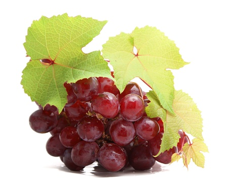 uvas: Racimo de uvas aislados en fondo blanco Foto de archivo