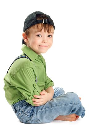 Portrait of young boy photo
