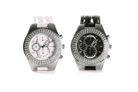 Black and white wristwatches