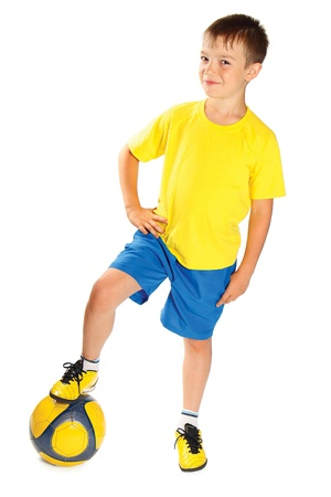 kids costume: Football player Stock Photo