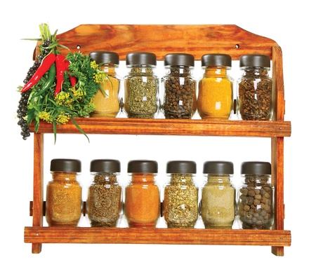 racks: Seasonings Stock Photo