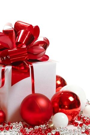 spangle: Christmas gift box Stock Photo