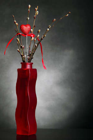 Heart in vase photo