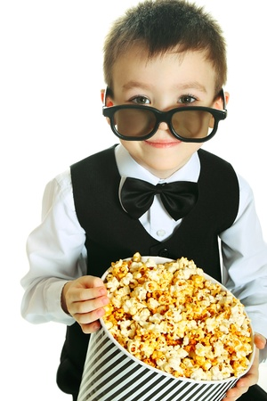 Boy with popcorn Stock Photo - 12426581