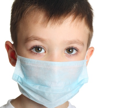 doctor with mask: Boy in medicine mask