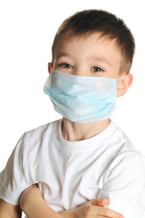 ni�os enfermos: Ni�o en la medicina m�scara