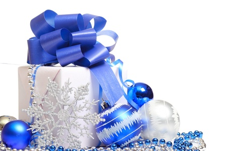 Christmas gift box Stock Photo
