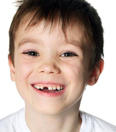 Toothless boy Stock Photo
