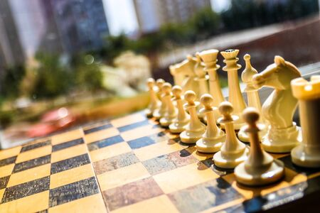 Chess figure, business concept strategy, leadership, teamwork and success.