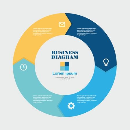 Business Diagram circle