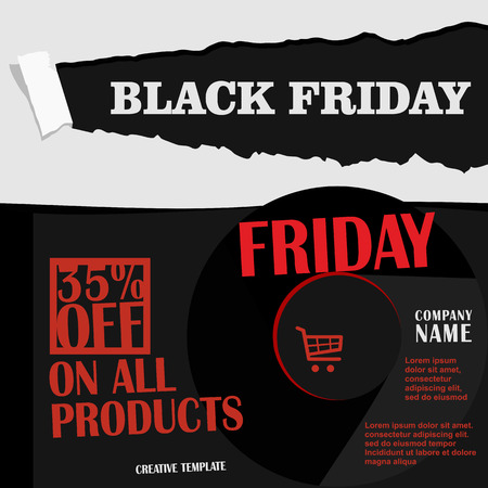 Black Friday, Big Sale, creative template on flat design Illustration
