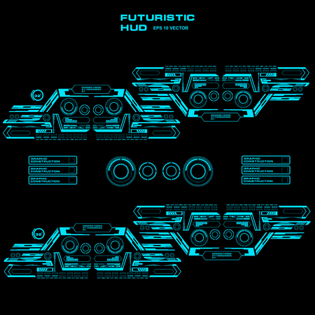 Futuristic blue virtual graphic touch user interface Illustration