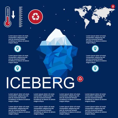 floe: iceberg, vector, illustration, ice, water, ocean, underwater, background, design, sea, landscape, mountain, business, antarctic, concept, nature, winter, template, polar, freeze, polygon, arctic, symbol, climate, blue, environment, cold, deep, ecology, mi