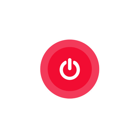 Illustration icon power in circle on flat design Иллюстрация