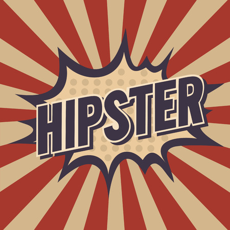 monologue: Illustration of a hipster, design in pop-art style