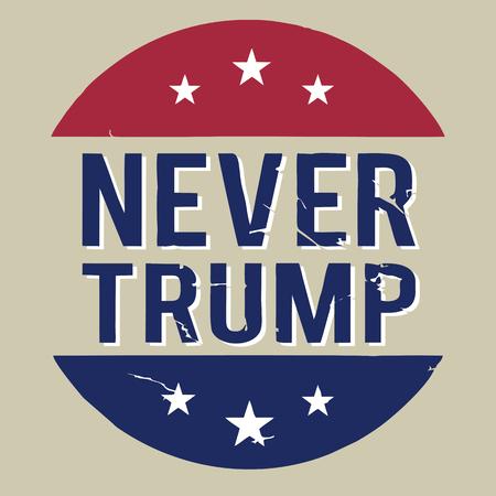 Illustration the never Donald Trump, flat design