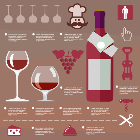 open magazine: red, beverage, vector, grapes, symbol, template, restaurant, graphic, alcohol, card, wine