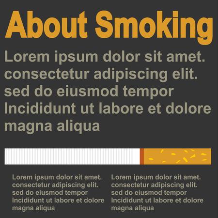 Poster über Rauchen, flaches Design, Vektor, Vorlage Vektorgrafik