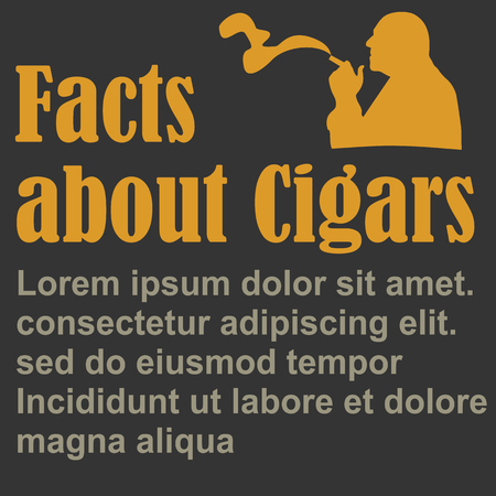 Poster About Smoking, flat design, vector, template
