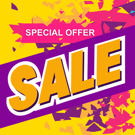 Super sale, paper banner, sale background, big sale,poster sale Illustration