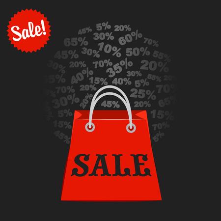 knock: Super sale, paper banner, sale background, big sale,poster sale Illustration