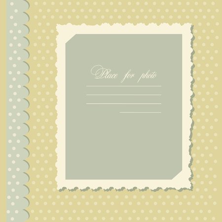 frill: Vector, retro, photo frame, vintage, flat design Illustration