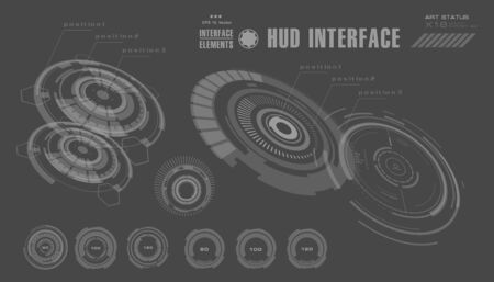 panels: Futuristic virtual graphic touch user interface, HUD