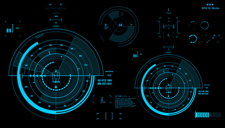 indicator panel: Futuristic virtual graphic touch user interface, HUD