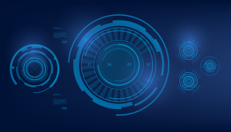 volume control: Futuristic virtual graphic touch user interface, HUD