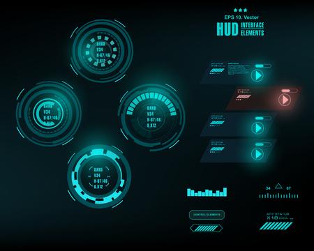 Interface utilisateur graphique graphique graphique futuriste, HUD