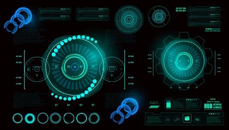 近未来の仮想グラフィック タッチ ユーザー インターフェイス、HUD