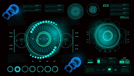 Futuristic virtual graphic touch user interface, HUD Reklamní fotografie - 81432045