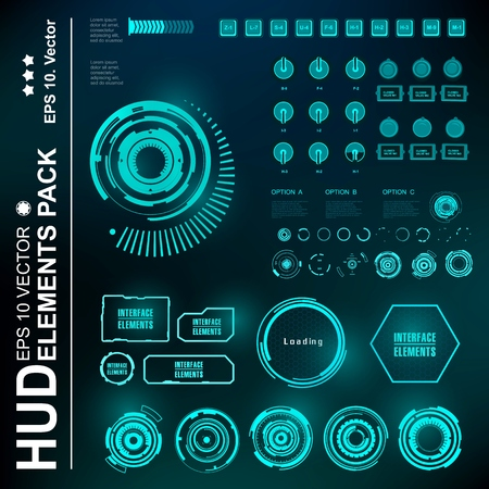 dashboard: Futuristic virtual graphic touch user interface, HUD