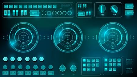 Futuristic virtual graphic touch user interface.