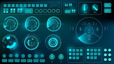 Futuristic virtual graphic touch user interface, target Reklamní fotografie - 85063760