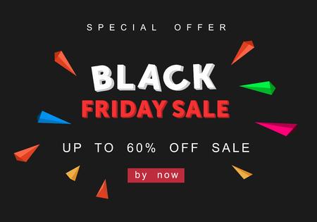 Black Friday, Big Sale, creative template on flat design Reklamní fotografie - 88627512