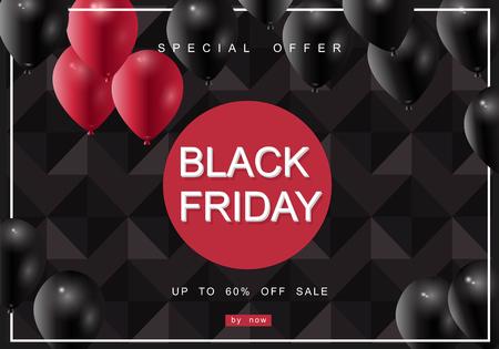 Black Friday, Big Sale, creative template on flat design Ilustrace
