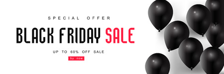 Black Friday Sale with best offers discount, flat 55 off, creative typographical background. Reklamní fotografie - 88628025