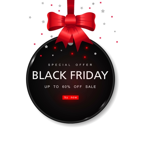 Black Friday Sale with best offers discount, flat 55 off, creative typographical background. Reklamní fotografie - 88628029