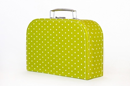 Vintage Green Polka dot Lunch Box  Stock Photo