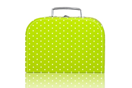 Vintage Green Polka Dot Lunchbox Stock Photo - 10561074