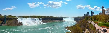 Niagara falls spectacular panorama scenery