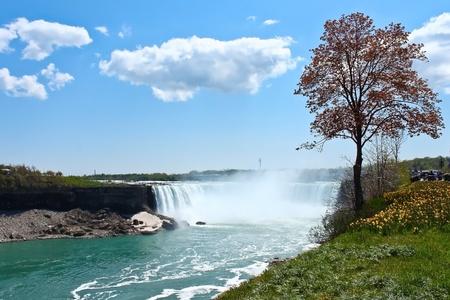 Niagara falls horseshoe beautiful landscape scenery Stock Photo