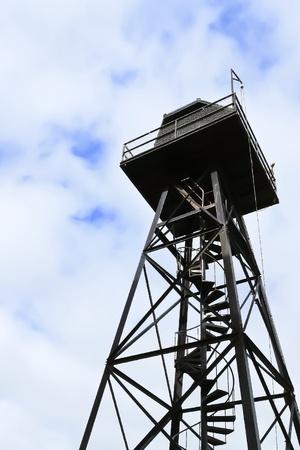 Guard watch tower at Alcatraz prison photo