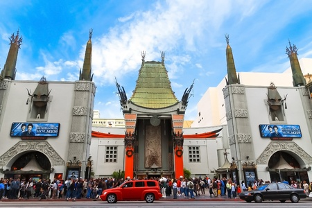 hollywood boulevard: Grauman Chinese Theater located on Hollywood Boulevard in Hollywood